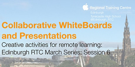 Creative activities for remote learning: collaborative whiteboards tickets