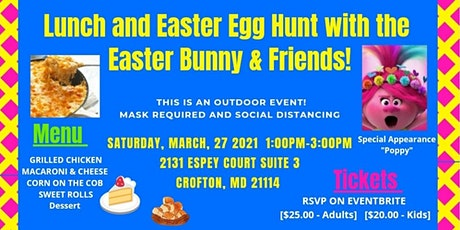 Lunch and Easter Egg Hunt with the Easter Bunny & Friends Poppy & Marshall! tickets