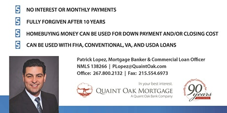 Programs to Make Home Buying More Affordable with Quaint Oak Mortgage tickets