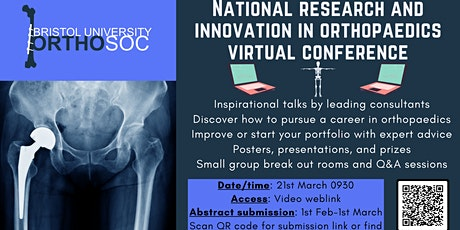 2021 National research and innovation in orthopaedics virtual conference tickets