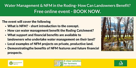 Water Management and NFM in the Roding-How can Landowners Benefit? Event 1 tickets