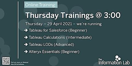 Thursday Trainings at Three tickets