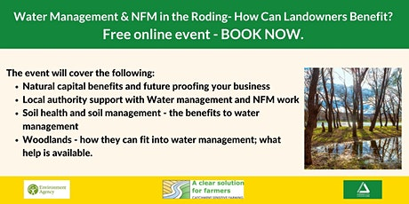 Water Management and NFM in the Roding-How can Landowners Benefit? Event 2 tickets