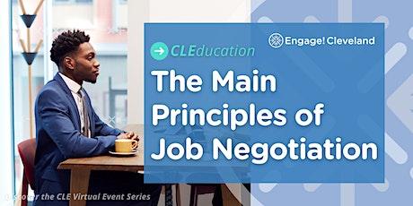CLEducation: The Main Principles of Job Negotiation tickets