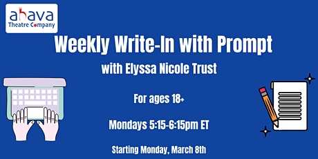 Ahava Theatre Presents: Write-In with Prompts tickets