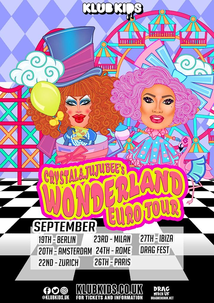Klub Kids Zurich presents Crystal Methyd & Jujubee Wonderland Tour image
