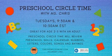Preschool Circle Time tickets