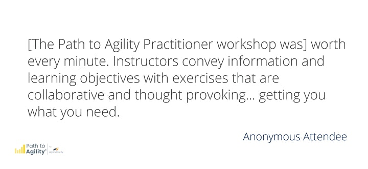 Certified Path to Agility® Practitioner  Workshop - LIVE ONLINE image