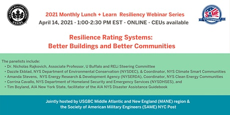 Resilience Rating Systems: Better Buildings and Better Communities tickets