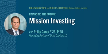 Financing the Future: Mission Investing tickets