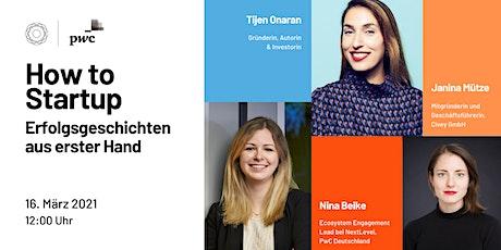 How to Startup - Erfolgsgeschichten aus erster Hand | GDW x PwC Deutschland Tickets