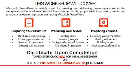 FREE MICROSOFT PowerPoint Class tickets