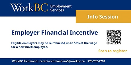 WorkBC Employer Financial Incentive Info Session tickets