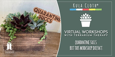 "Public Virtual- Earth Day Event!  ""Quarantine Succs"" Rustic Box Planter tickets"