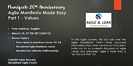 Free Webinar: Agile Manifesto Made Easy, Part 1 tickets