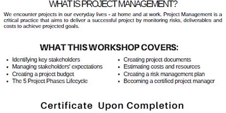 FREE Project Management Class tickets