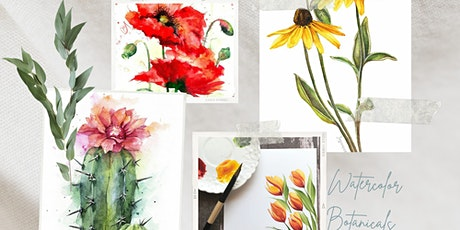 Watercolor Botanicals with Erica-Ashdyn tickets