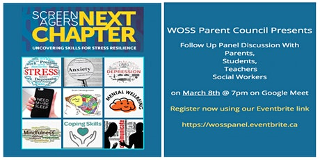 Screenagers Next Chapter Follow Up Panel Discussion tickets