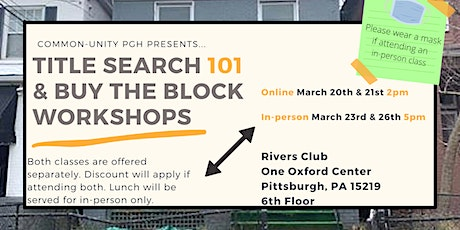 Buy the Block & Title Search 101 tickets