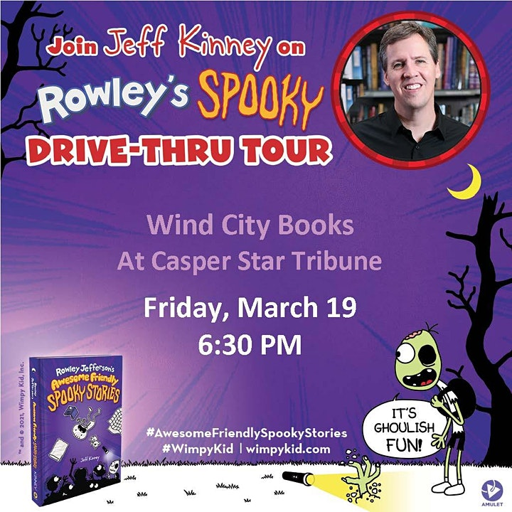 Rowley's Spooky Drive-Thru Tour hosted by Wind City Books image