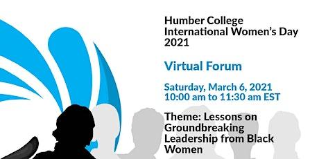 Humber College International Women's Day 2021 Virtual Forum tickets