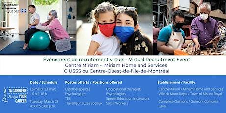 Portes ouvertes virtuelles - Centre Miriam billets