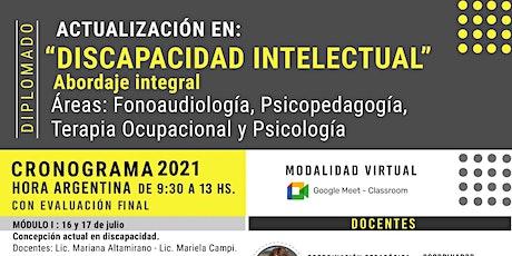 """Diplomado en Actualización en """"DISCAPACIDAD INTELECTUAL"""" entradas"""