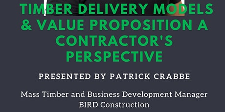Mass Timber Delivery Models & Value Proposition - Contractor's Perspective tickets