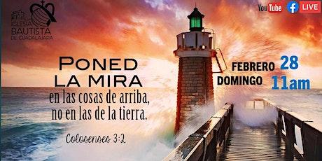Servicio Dominical 28-02-2021 entradas