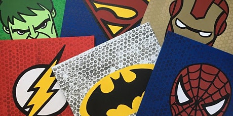 Super Hero Paint Nite Event - Canvas Painting at Blue Dyer Distilling Co. tickets