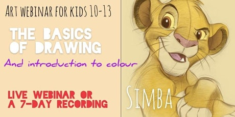 Learn to Draw, Shade and Colour a 3D Character - Art Webinar for Kids 10-13 Tickets