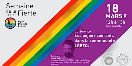 Conférence : Les enjeux courants dans la communauté LGBTQ+ billets