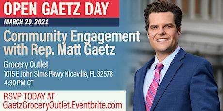 Open Gaetz Day: Community Engagement with Rep. Gaetz tickets