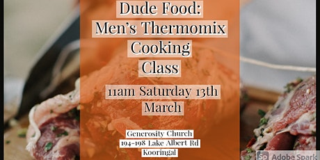 Dude Food-  Men's Thermomix cooking class. tickets