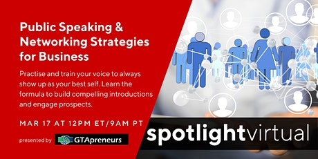 Public Speaking & Networking Strategies for Business tickets