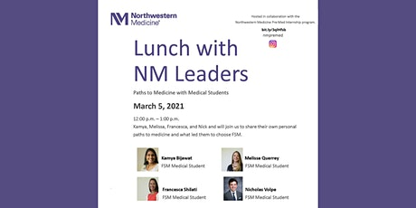 Lunches with NM Leaders: Paths to Medicine with Medical Students tickets