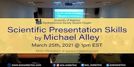 Scientific presentation skills biglietti