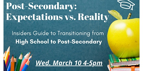 Post-Secondary: Expectations vs Reality tickets