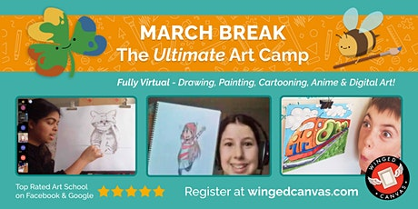 March Break LIVE Virtual Art Camp - Watercolour Painting 5+ tickets