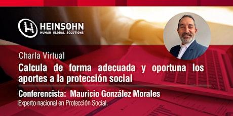 Calcula de forma adecuada y oportuna los aportes a la protección social entradas