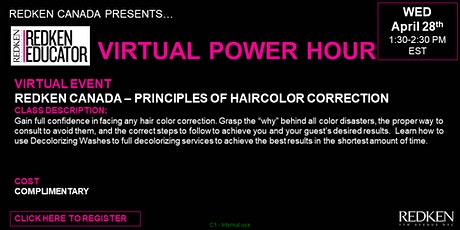 REDKEN CANADA - PRINCIPLES OF HAIRCOLOR CORRECTION tickets