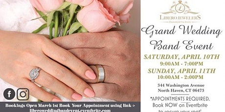 Libero Jewelers Grand Wedding Band Event 2021 tickets