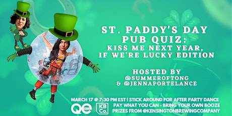 QE Trivia 049: St. Paddy's Day Pub Quiz Brawl (Virtual Pop Culture Quiz) tickets