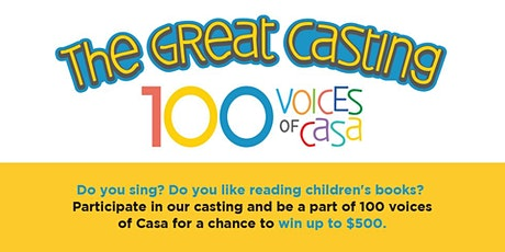 The Great Casting 100 VOICES OF CASA boletos