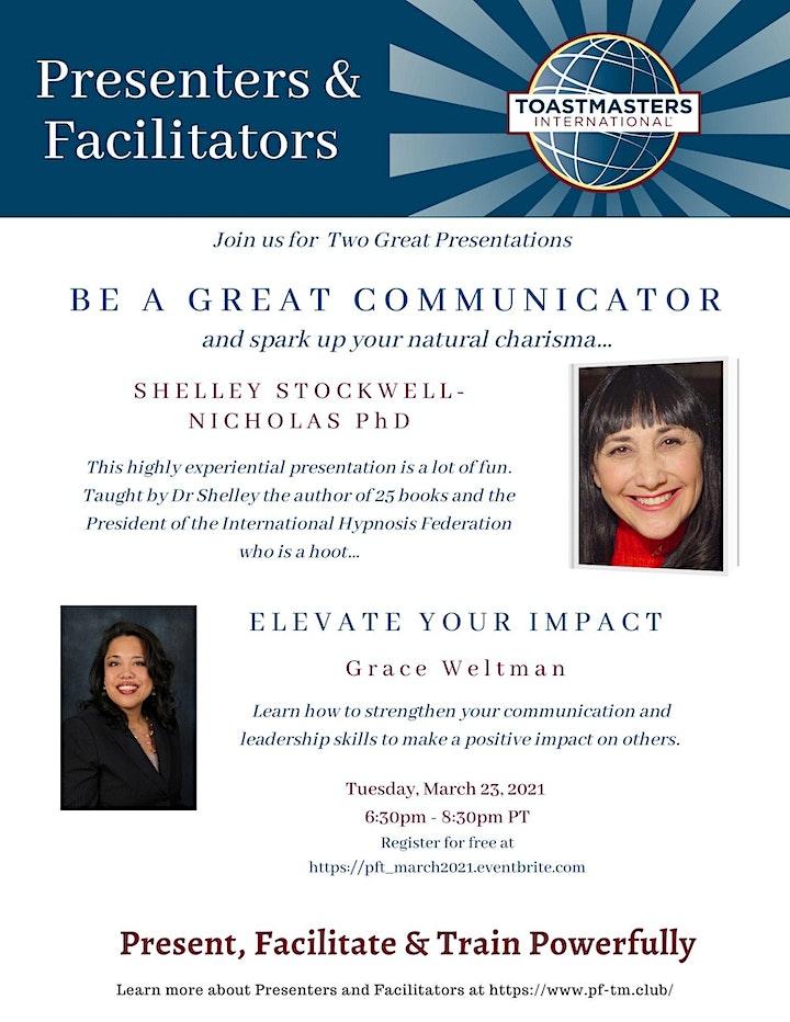 Presenters & Facilitators:  Be a Great Communicator image