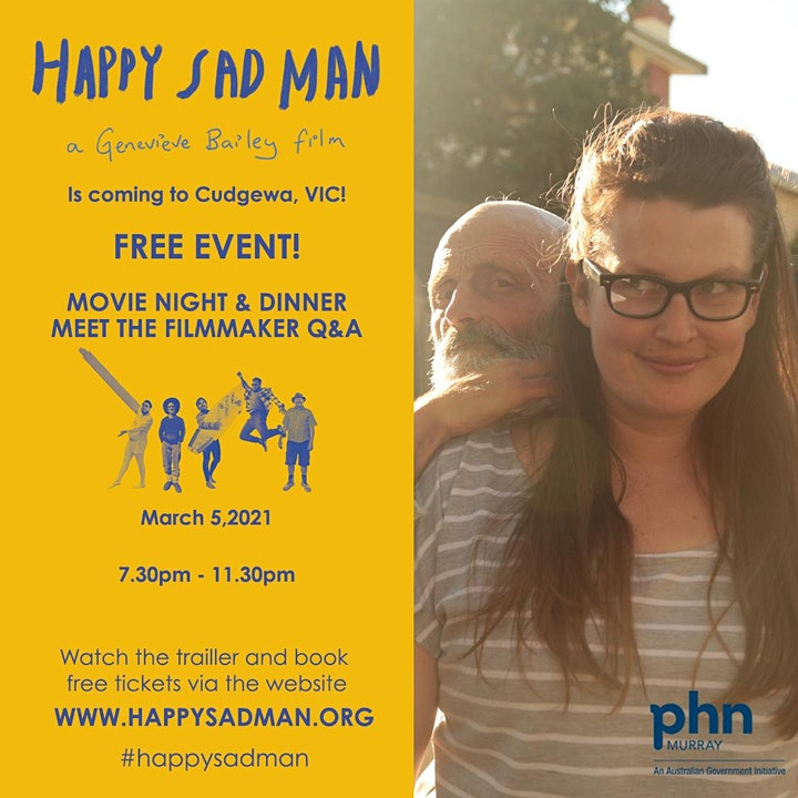 Happy Sad Man - free outdoor movie screening image