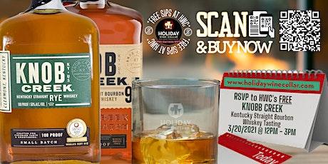 #FreeSipsAtHWC with Knob Creek Kentucky Straight Whiskey tickets