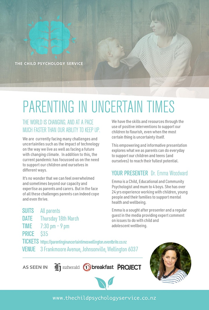PARENTING IN UNCERTAIN TIMES image