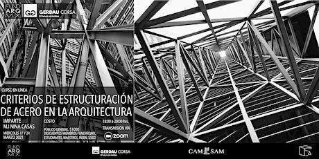CRITERIOS DE ESTRUCTURACIÓN DE ACERO EN LA ARQUITECTURA: curso en línea entradas