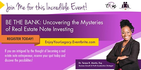 Be The Bank: Mortgage Note Investing tickets